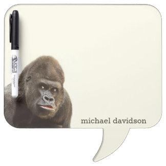 Funny Gorilla custom monogram message board
