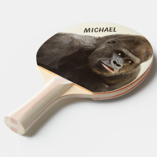 Funny Gorilla custom monogram ping pong paddle