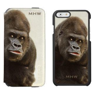 Funny Gorilla custom monogram wallet cases