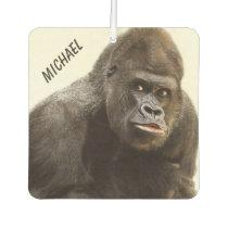 Funny Gorilla custom name car air freshner Air Freshener