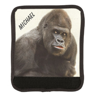 Funny Gorilla custom name luggage handle wrap