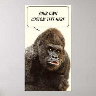 Funny Gorilla custom poster