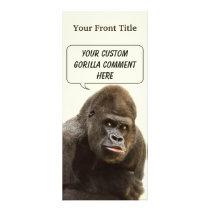 Funny Gorilla custom rack cards