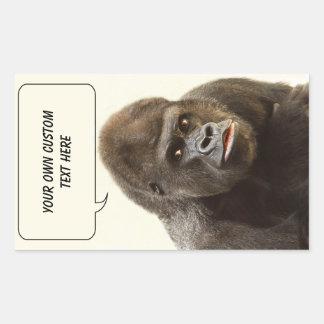 Funny Gorilla custom stickers