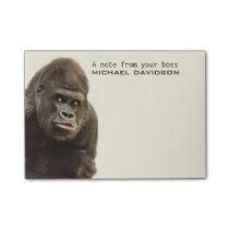 Funny Gorilla custom text Post-It notes