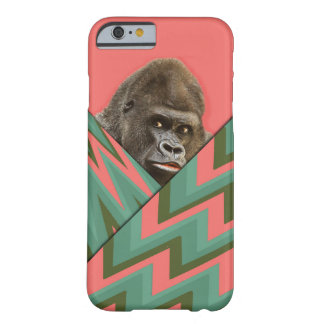 Funny Gorilla Pink Green Chevron iPhone6 Barely There iPhone 6 Case