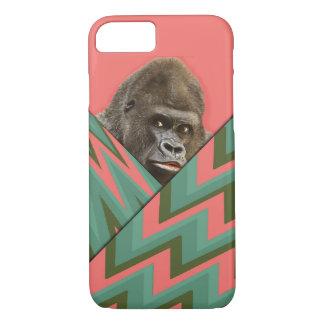 Funny Gorilla Pink Green Chevron iPhone7 iPhone 8/7 Case