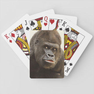 Funny Gorilla playing cards