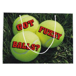 Funny Got Fuzzy Balls? Tennis Large Gift Bag