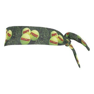 Funny Got Fuzzy Balls? Tennis Tie Headband