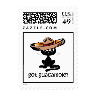Funny got guacamole postage stamp