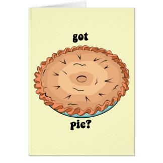 Funny got pie card