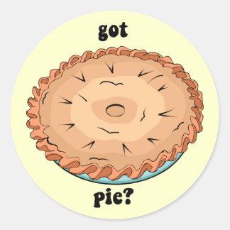 Funny got pie classic round sticker