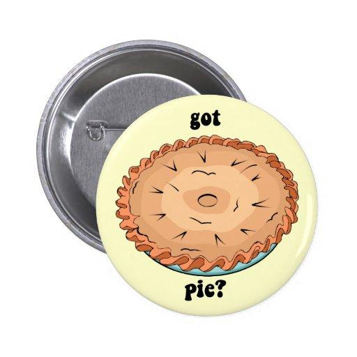 Funny got pie pinback button