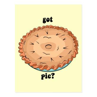 Funny got pie postcard