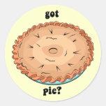 Funny got pie round sticker