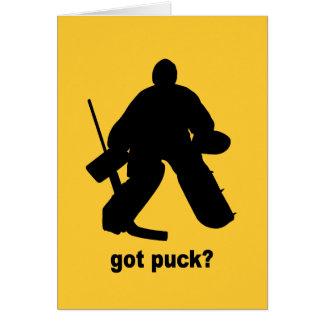 Funny got puck hockey card