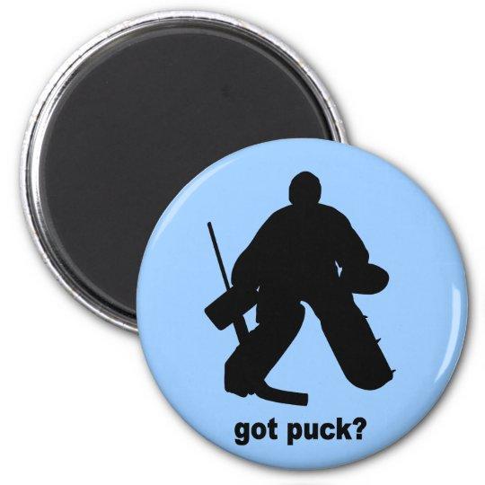 Funny got puck hockey magnet