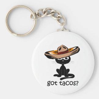 Funny got tacos basic round button keychain