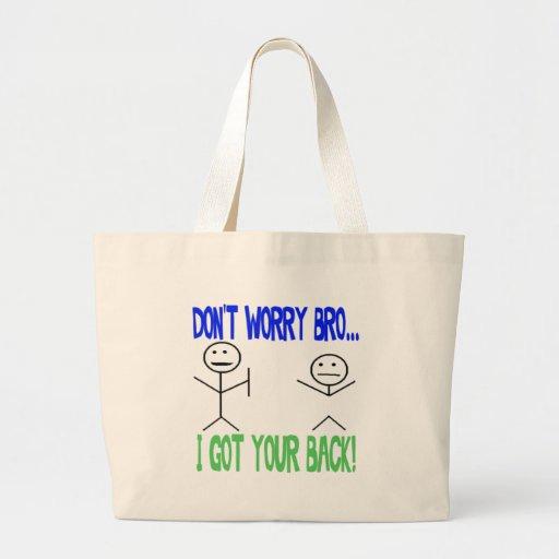 Funny Got Your Back Jumbo Tote Bag