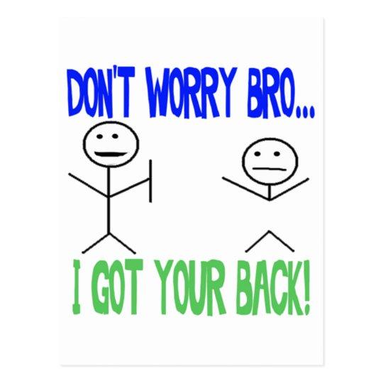 Funny Got Your Back Postcard