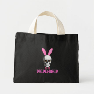 Funny gothic bridesmaid mini tote bag