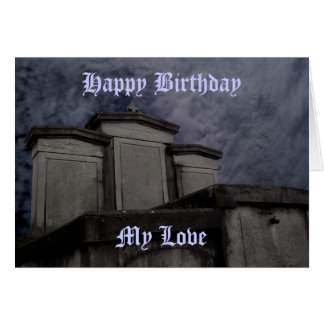 Funny Gothic cemetery Birthday Cards