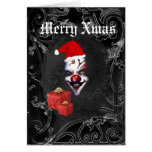 Funny  gothic santa black Christmas Greeting Card