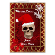 Funny Gothic santa Claus personalized christmas Greeting Card