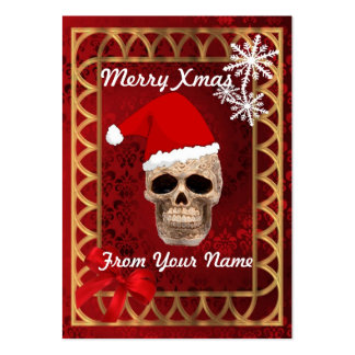 Funny gothic Santa personalized Christmas tag Business Card Template
