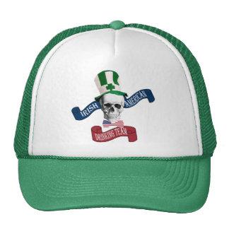 Funny gothic skull Irish  St Patrick's day Trucker Hat