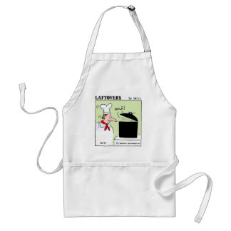 Funny Gourmet Chef Laftovers Cartoon Adult Apron