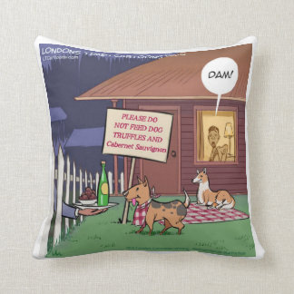 Funny Gourmet Dogs Cotton Throw Pillow
