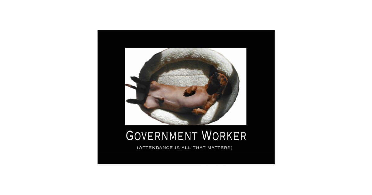 funny government employee postcard