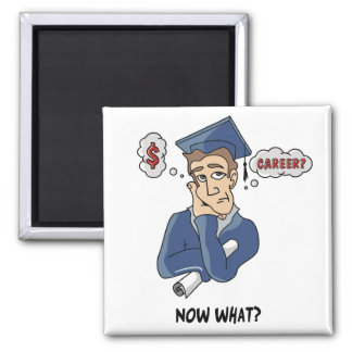 Funny Graduation 2 Inch Square Magnet