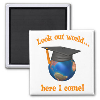 Funny Graduation 2 Inch Square Magnet