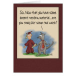 Funny Graduation Cards: Nesting Material