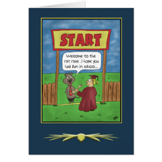 Funny Graduation Cards: The Rat Race Card