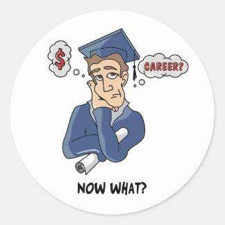 Funny Graduation Classic Round Sticker