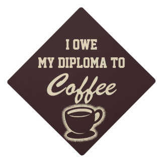 Funny Graduation Coffee Humor Graduation Cap