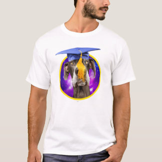 Funny Graduation Dog Wearing Hat T-Shirt