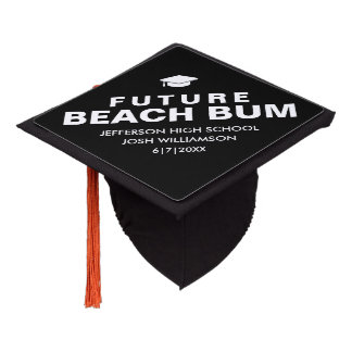 Funny Graduation Future Beach Bum Custom Graduation Cap Topper