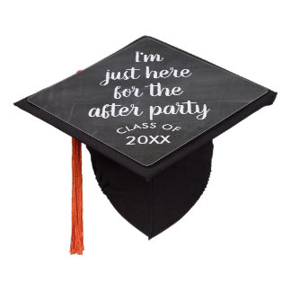 Funny Graduation Here for the Party Class of 2018 Graduation Cap Topper