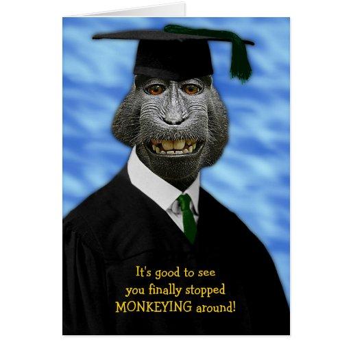 graduation monkey macaque congratulations card zazzle