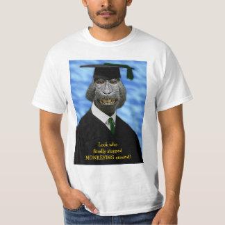Funny Graduation Monkey Macaque Yearbook Custom T-Shirt