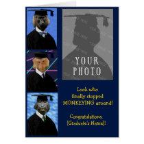 Funny Graduation Monkeys Custom Congratulations Card