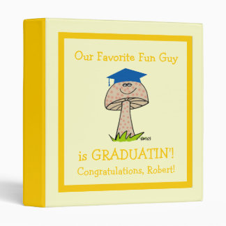 Funny Graduation Party Scrapbook for Fun Guy Binder