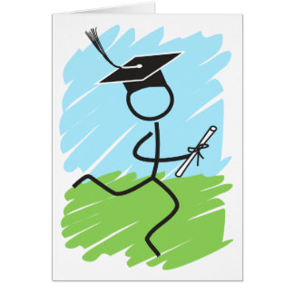 Funny Graduation Runner - Cross Country, Track Greeting Card