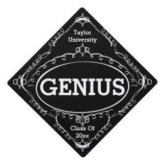Funny Graduation Sign - Genius Graduation Cap Topper