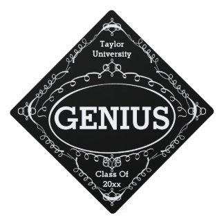 Funny Graduation Sign - Genius Graduation Cap Topper